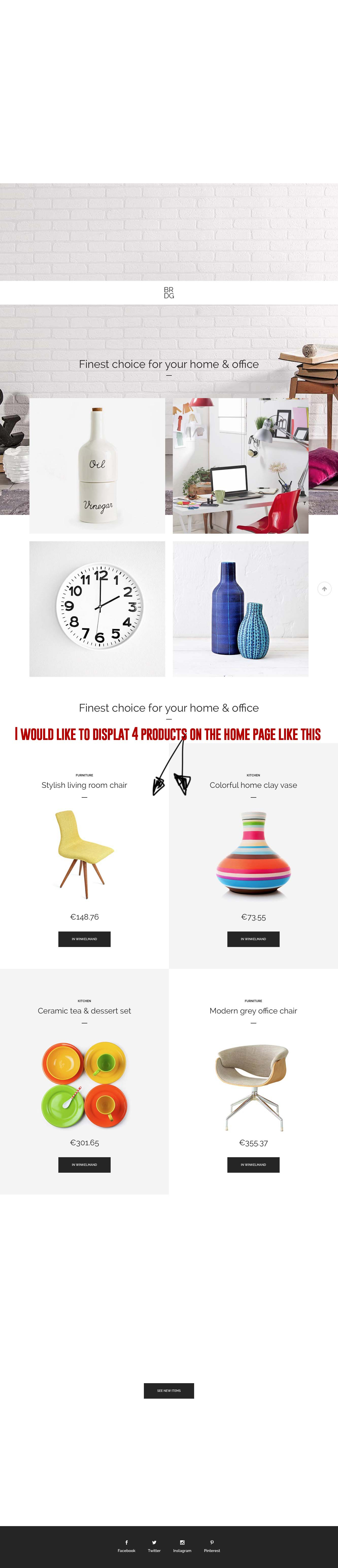 4 products on home